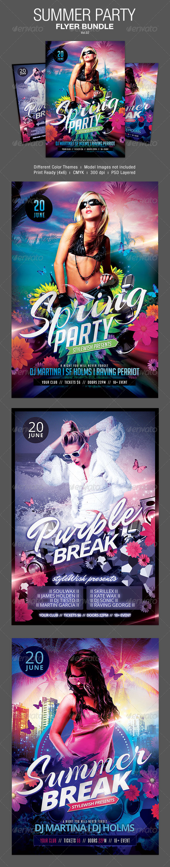 GraphicRiver Summer Party Flyer Bundle Vol.02 7236104