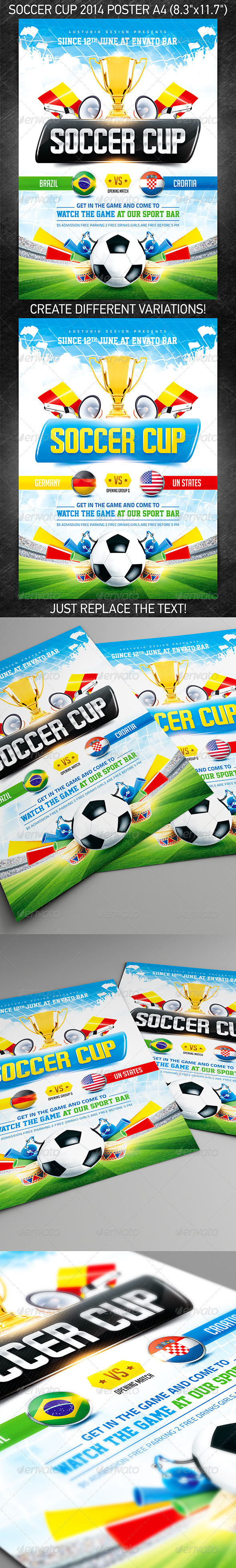 GraphicRiver Soccer Cup 2014 poster 7216165
