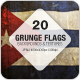Grunge Flags - 20 countries around the world  - GraphicRiver Item for Sale