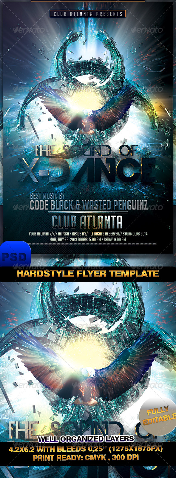GraphicRiver Hardstyle Flyer Template 7236273