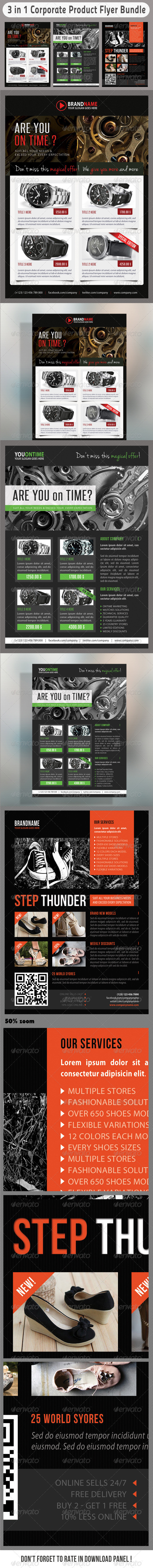 GraphicRiver 3 in 1 Corporate Flyers Bundle 11 7236431