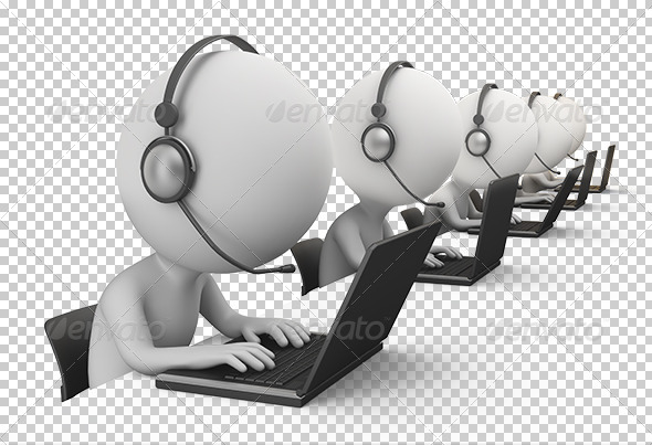 GraphicRiver 3D small people call center 7236513