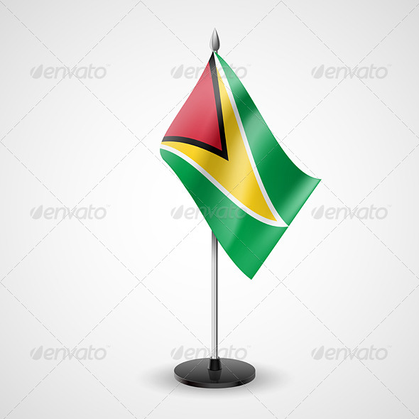 GraphicRiver Table flag of Guyana 7236517