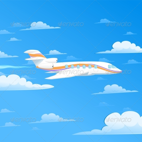 GraphicRiver Flying Plane 7236529