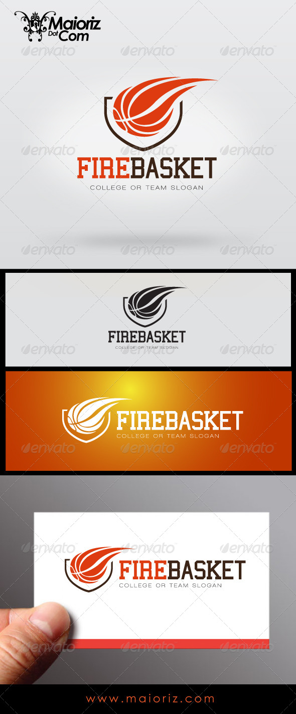 GraphicRiver Fire Basket Logo 7236569