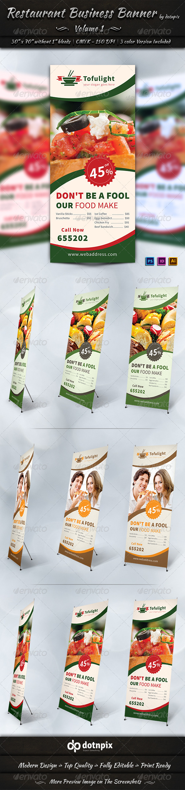 GraphicRiver Restaurant Business Banner Volume 1 7204111