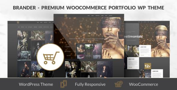 ThemeForest Brander Premium WooCommerce Portfolio WP Theme 7236716