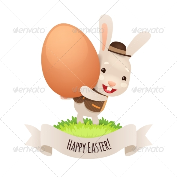 GraphicRiver Happy Easter Bunny With Egg 7236859