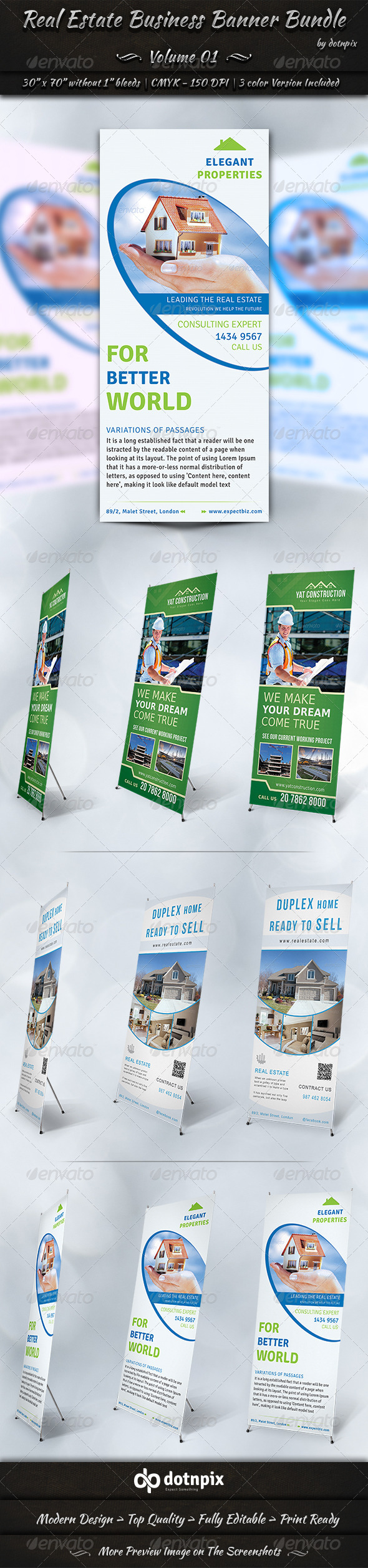 GraphicRiver Real Estate Business Banner Bundle Volume 1 7236882