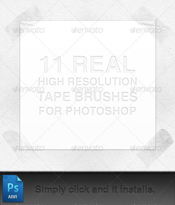 Graphic River Tape Brushes Add-ons -  Photoshop  Brushes  Flourishes 757975