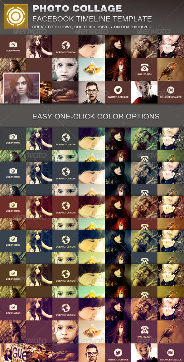 GraphicRiver Photo Collage Facebook Timeline Cover Template 7237274