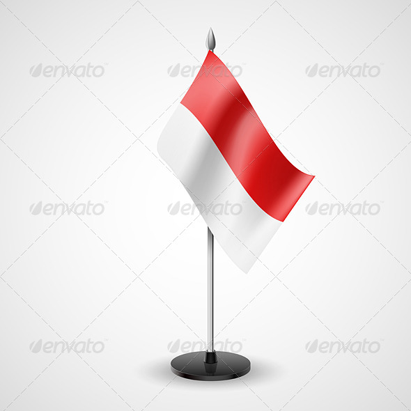 GraphicRiver Table flag of Indonesia 7237671