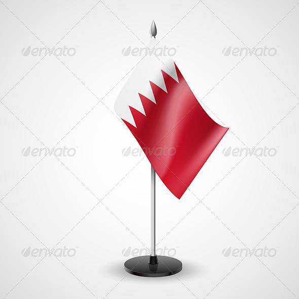 GraphicRiver Table flag of Bahrain 7237677