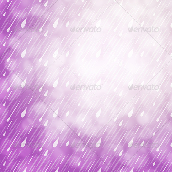 GraphicRiver Purple Rain Background 7238089