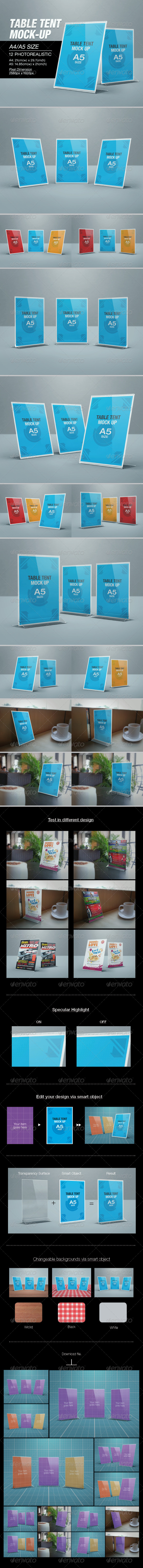 GraphicRiver Table Tent Mock-up 7225501