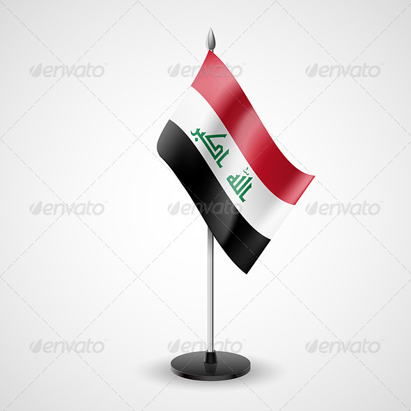 GraphicRiver Table Flag of Iraq 7238469
