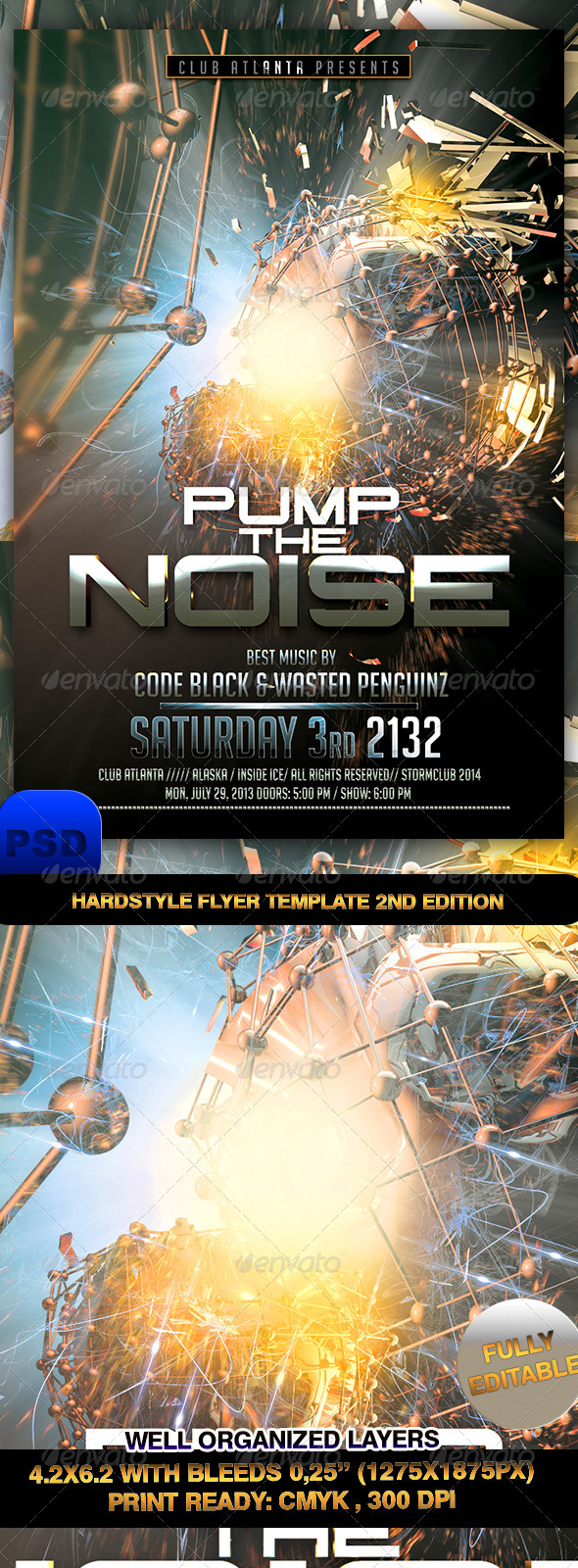 GraphicRiver Hardstyle Flyer Template 2nd Edition 7238475