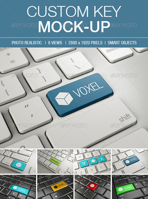 GraphicRiver Custom Key Mockup 7238538