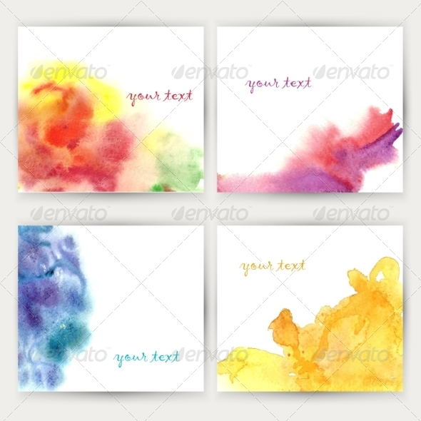 GraphicRiver Set of Watercolor Backgrounds 7238537