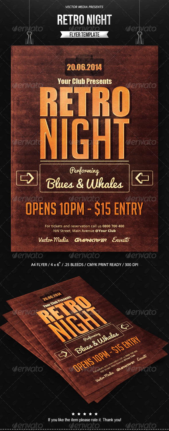 GraphicRiver Retro Night Flyer 7238587