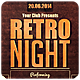 Retro Night - Flyer - GraphicRiver Item for Sale