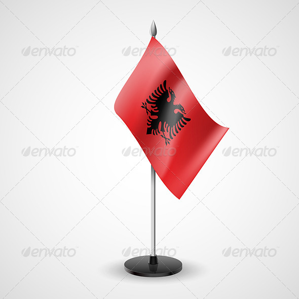GraphicRiver Table flag of Albania 7238792