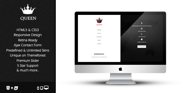 ThemeForest Queen Responsive & Retina Ready Template 7238817