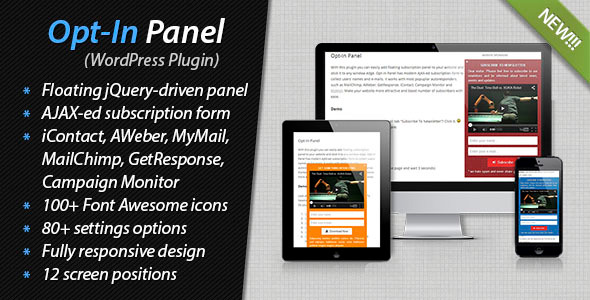 CodeCanyon Opt-In Panel 7239476