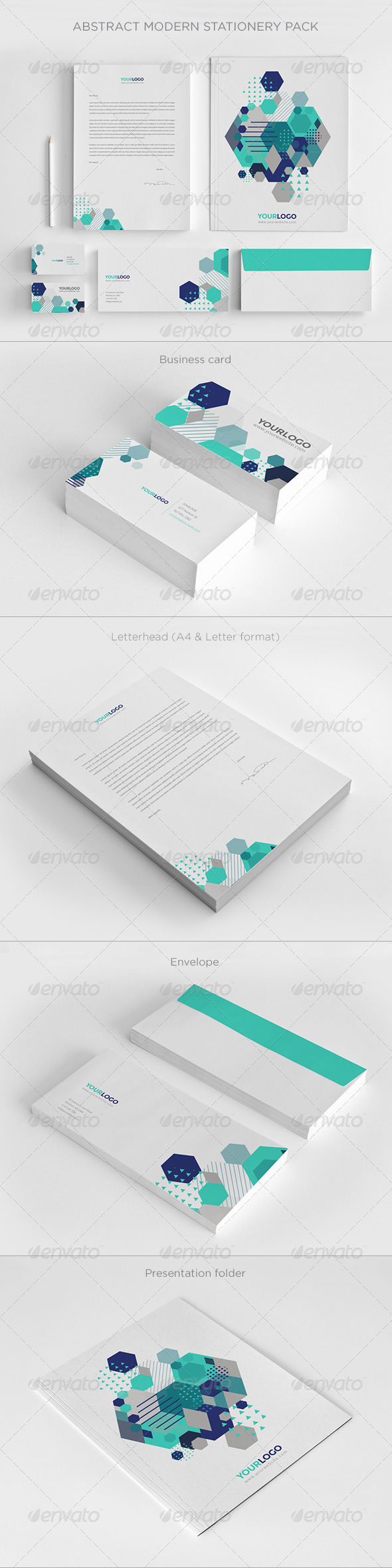 GraphicRiver Abstract Modern Stationery Pack 7239814