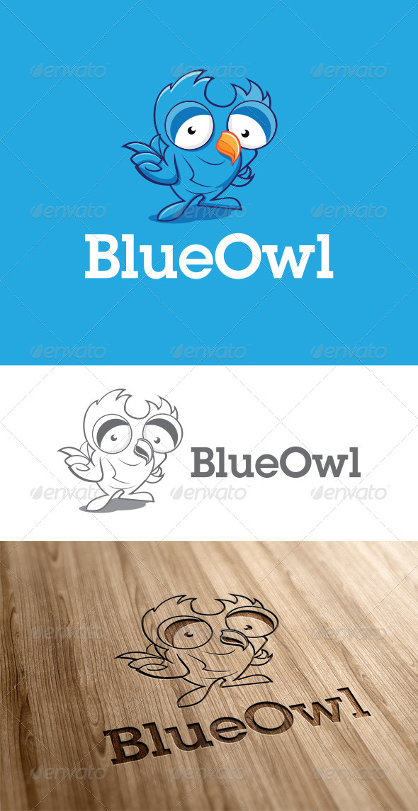 GraphicRiver Charcter Owl Logo Template 6799656