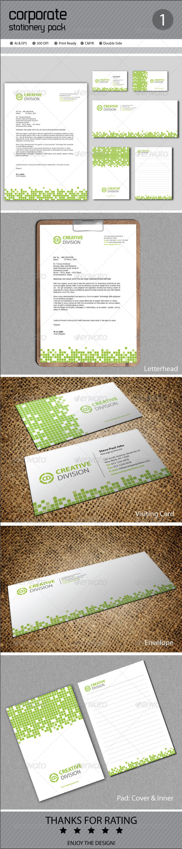 GraphicRiver Corporate Stationery 7222352