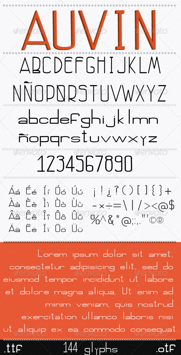 GraphicRiver Auvin Font 7240763