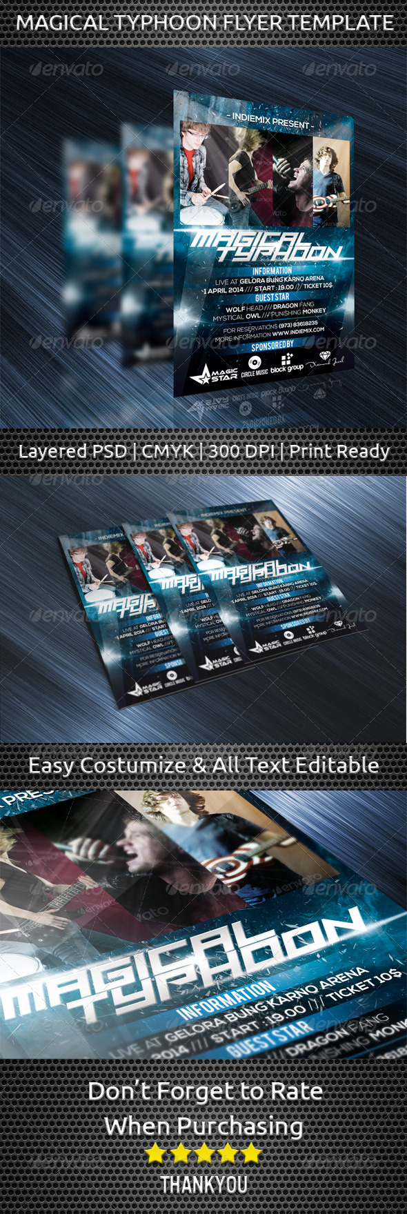 GraphicRiver Magical Typhoon Flyer Template 7240770