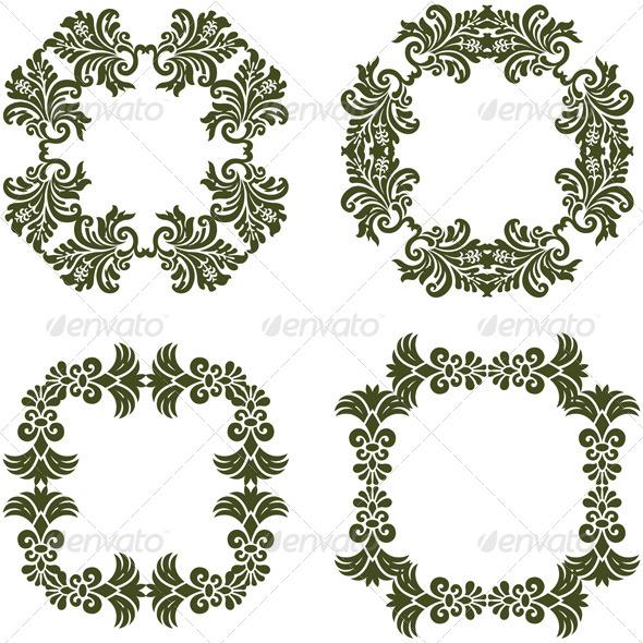 GraphicRiver Floral Damask Frames 7240844