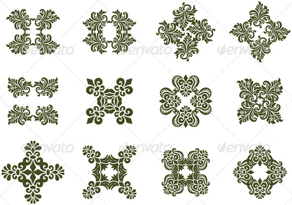 GraphicRiver Floral Damask Icons 7240857