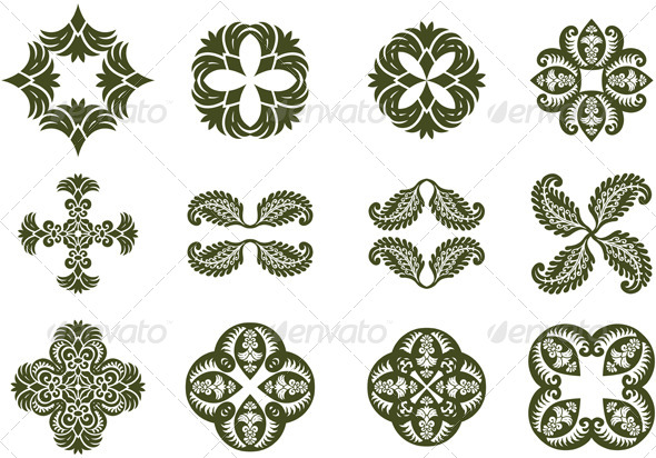 GraphicRiver Floral Damask Icons 7240864