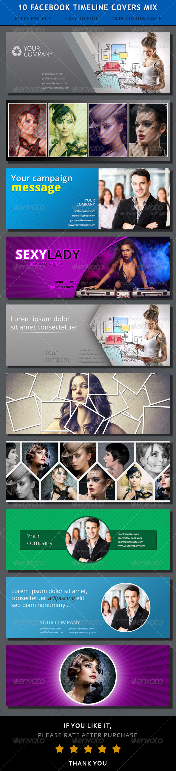 GraphicRiver Facebook Timeline Covers Mix 7241174