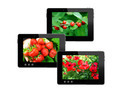 three black tablets with motley pictures - PhotoDune Item for Sale