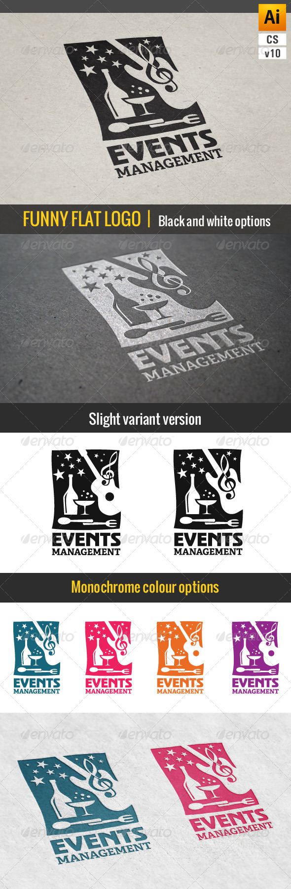 GraphicRiver Events & Parties Management Logo 7222345