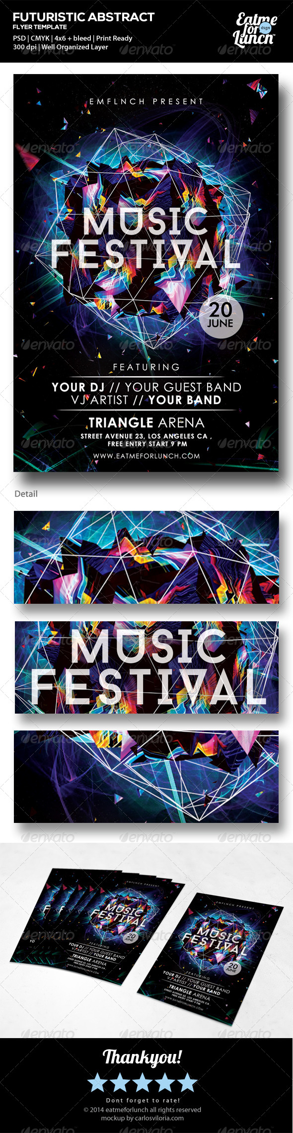 GraphicRiver Futuristic Music Gigs Festival Flyer Templates 7214757