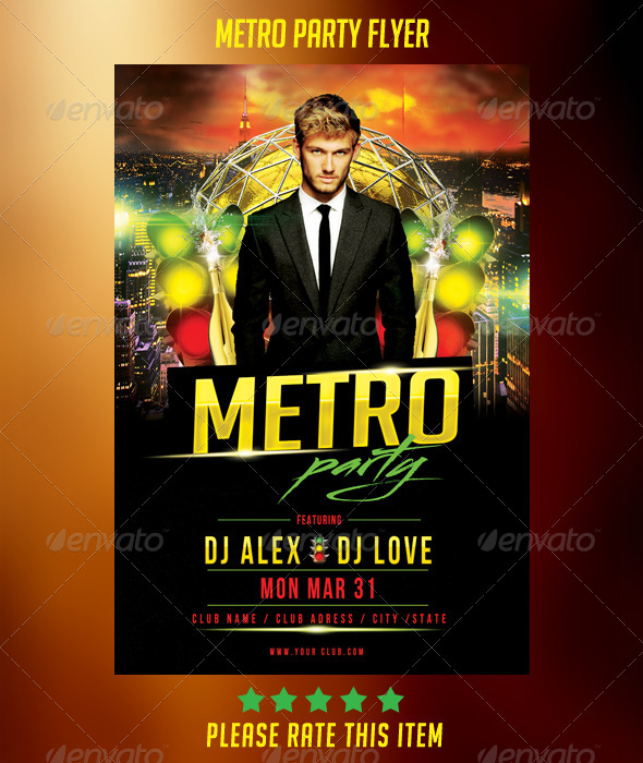 GraphicRiver Metro Party Flyer 7216311