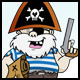 Short Pirate with Treasure Map - GraphicRiver Item for Sale