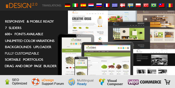U-Design WordPress Theme - Business Corporate