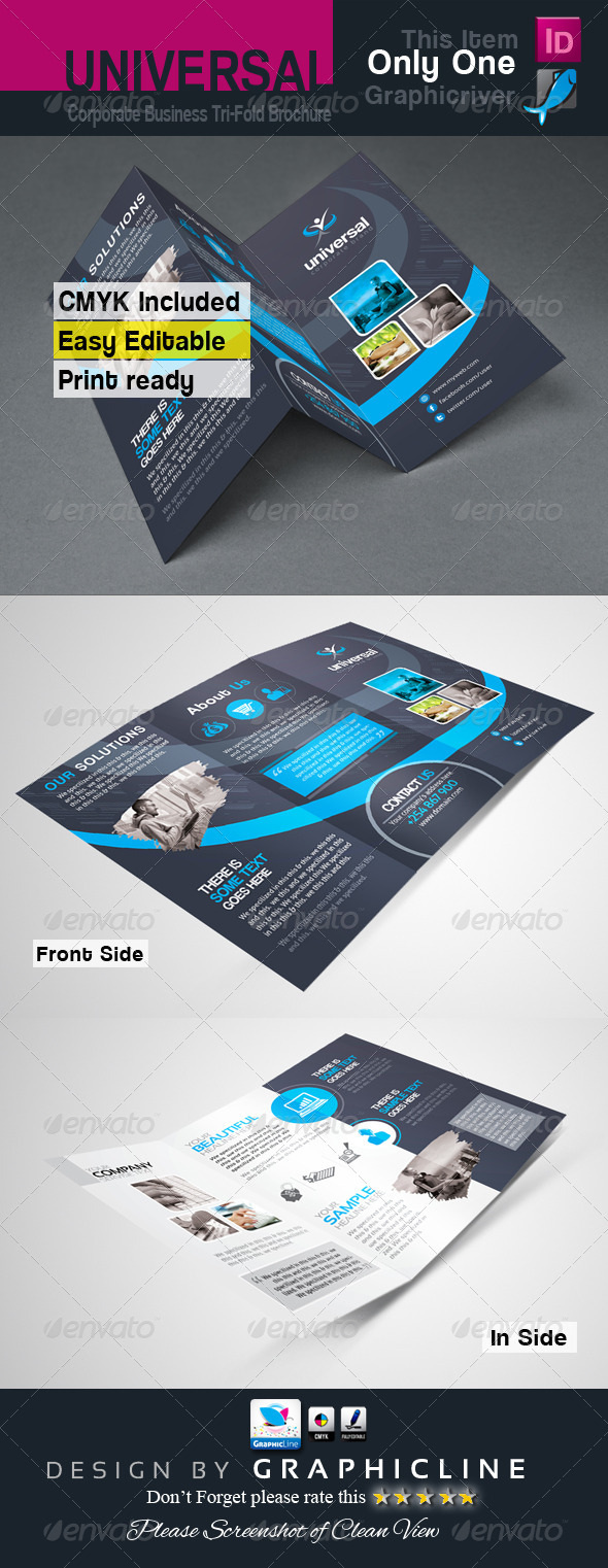 GraphicRiver Tri-fold Business Brochure 7241901