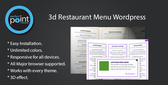 CodeCanyon 3D Restaurant Menu Wordpress 7241969