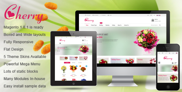 ThemeForest SM Cherry Responsive Magento Theme 7242035