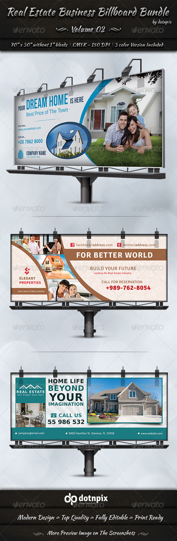 GraphicRiver Real Estate Business Billboard Bundle Volume 2 7242083