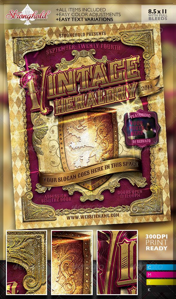 GraphicRiver Vintage Heraldry Crest Flyer Template 7242205