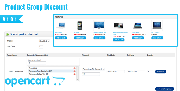 CodeCanyon Opencart Easy Group Discount 7242429