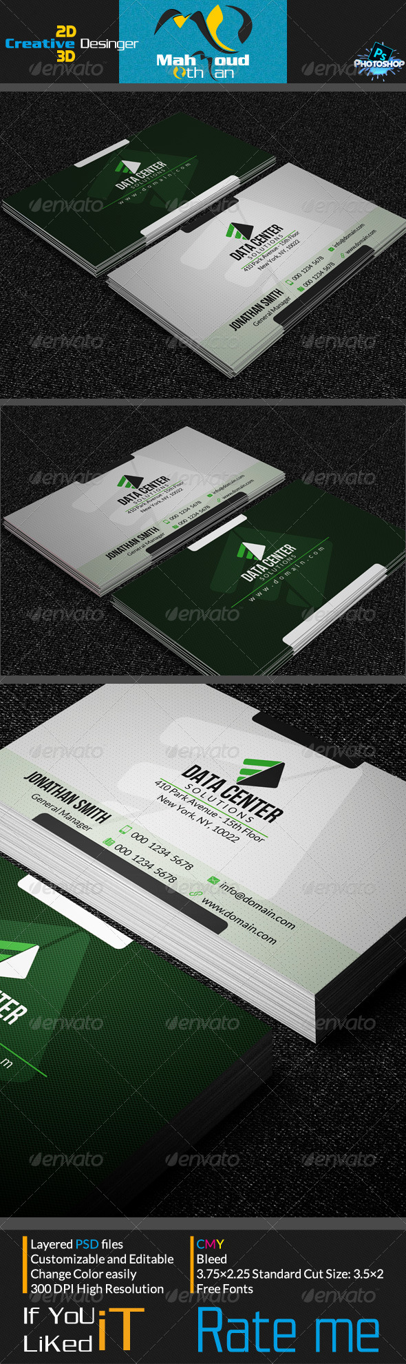 GraphicRiver Corportae Business Card V07 7242864